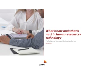 PwC's Human Resources Technology Survey