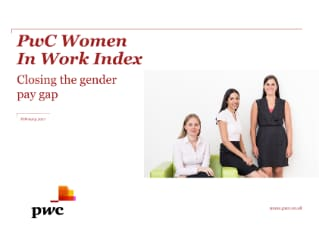 PwC Women In Work Index: Closing the gender pay gap